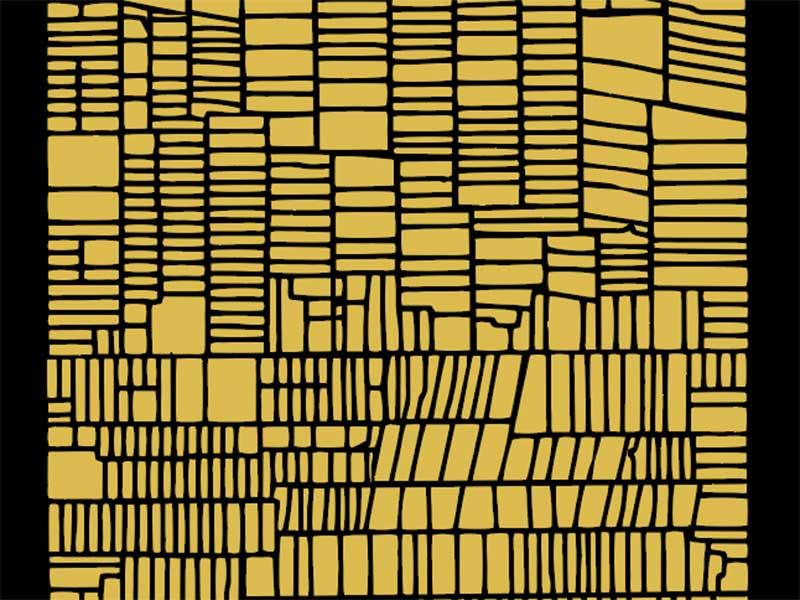 black & gold grid 1 abstract illustration gold black grid graphic art illsutration design