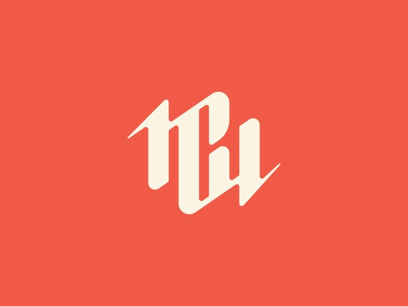 MCW logo round 1B monogram lettering geometric modern audio branding brand logo