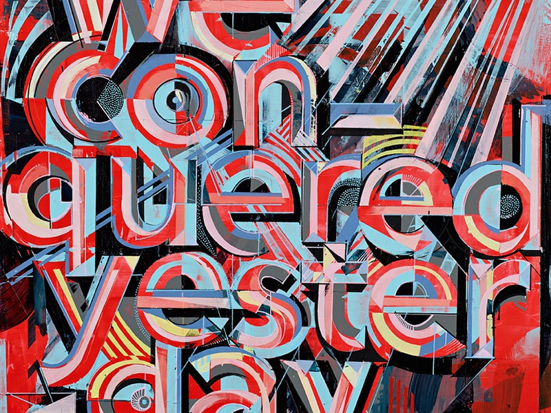 We Conquered Yesterday futurism ontario hamitlon design illsutration lettering painting
