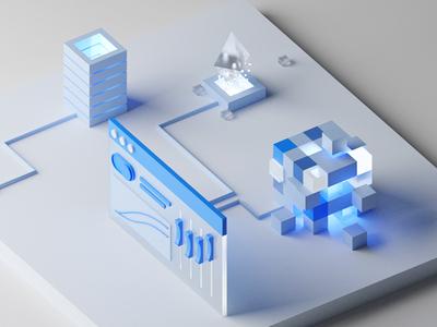 Control panel for blockchain blue and white clean ui block chain bitcoin ethereum blockchain cryptocurrency blockchaindevelopment blockchaintechnology blockchain 3d ui 3d illustration cinema 4d cinema4d c4dart c4d blender3dart blender 3d blender3d blender