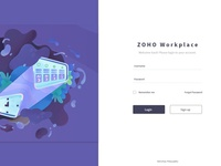 Zoho Redesign : Sign In Page