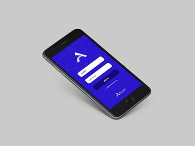 Adistec Branding - App Login login screen app app design