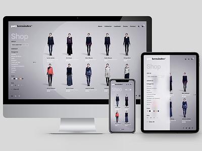 Poty Hernández - Shop branding fashion web ux website ui responsive online store