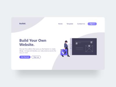 Buildd - Minimalist Web Design web design flat illustration website design website minimal web design ux ui