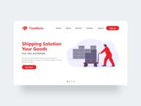 Trawlbens - Minimalist Web Design trending ui ux design logistic startup service cargo minimalist web illustrations dribbble best shot dribbble website design web design ux ui