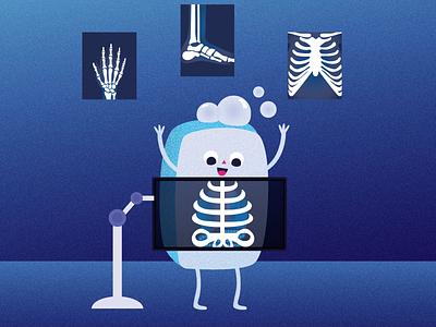X-ray vector branding illustration