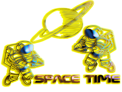 spacectime illustration astronaut galaxy plant space