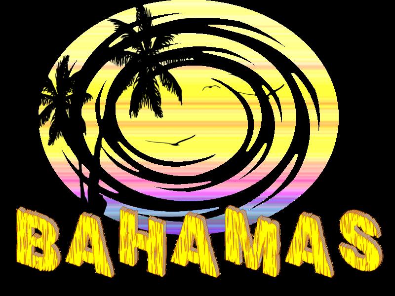 BAHAMAS SUMMER palmistry birds bahamas sun beach logo design illustration color summer