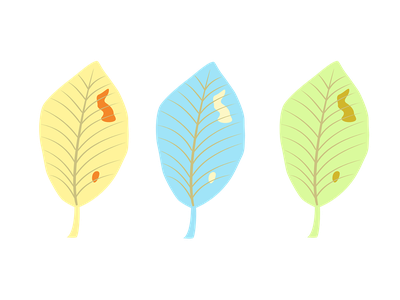 Autumn leaves trees wind leaves design color illustration season autumn