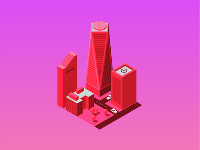 Isometric NYC illustration new york monochrome isometric art isometric design city illustration