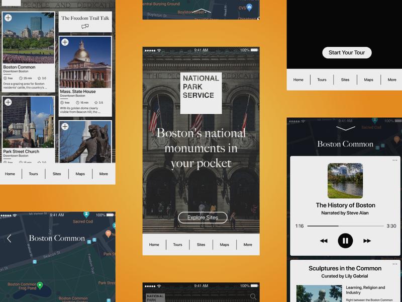 National Park Service App Redesign ui ux app design
