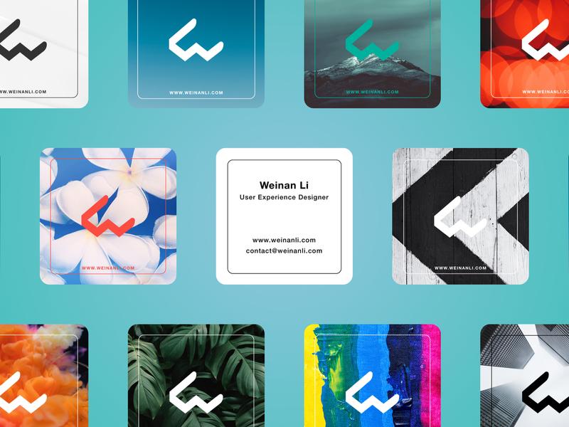 Genderfluid Business Card Set logo visual identity design