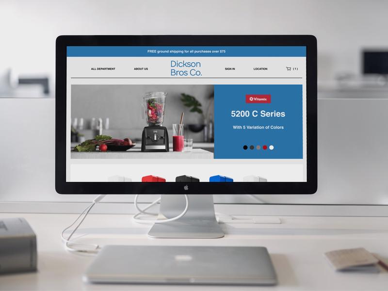 e-Commerce Homepage Design web deisgn ux design ui desgin