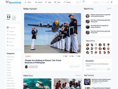 Newsviral - Modern News & Magazine HTML Template web bootstrap typography minimal html design publisher newspaper bootstrap 4 magazine