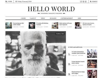 Hewo - Modern Newspaper HTML Template unique responsive publisher newspaper news modern magazine html5 css3 creative carousel boxed blog black