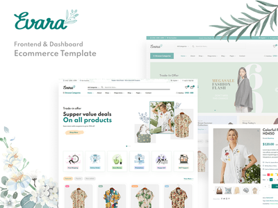 Evara  - Ecommerce Frontend & Dashboard Template envato themeforest template html dashboard fashion ecommerce bootstrap 5