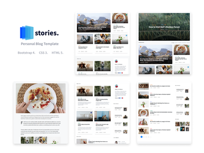 Stories - Personal Blog HTML Template travel