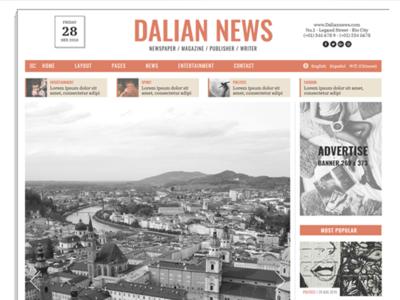 Dalian - Classic newspaper HTML template web publication html magazine publisher newspaper minimal bootstrap