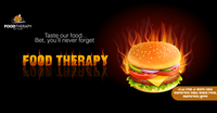 facebook cover for food therapy
