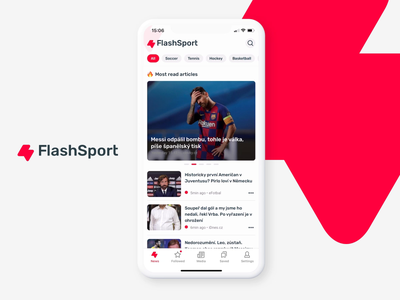FlashSport App graphic design app dark mode sports news app news ux ui scroll user interface mobile app mobile ui
