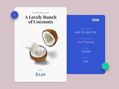 Daily UI #002 - Credit Card Checkout ux ui material design ecommerce credit card checkout screen card interface dailyui
