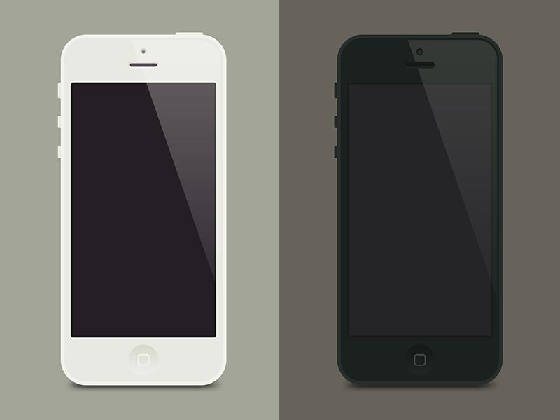 iPhone5 Flat Template mockup psd template iphone5 ui flat design buatoom