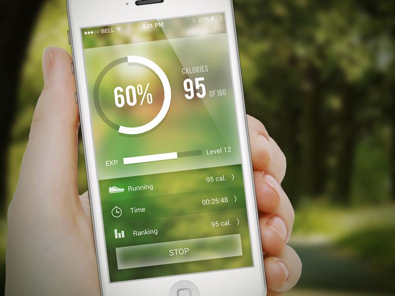 Fitness App blur fitness relax heal run refresh calorie green garden slim