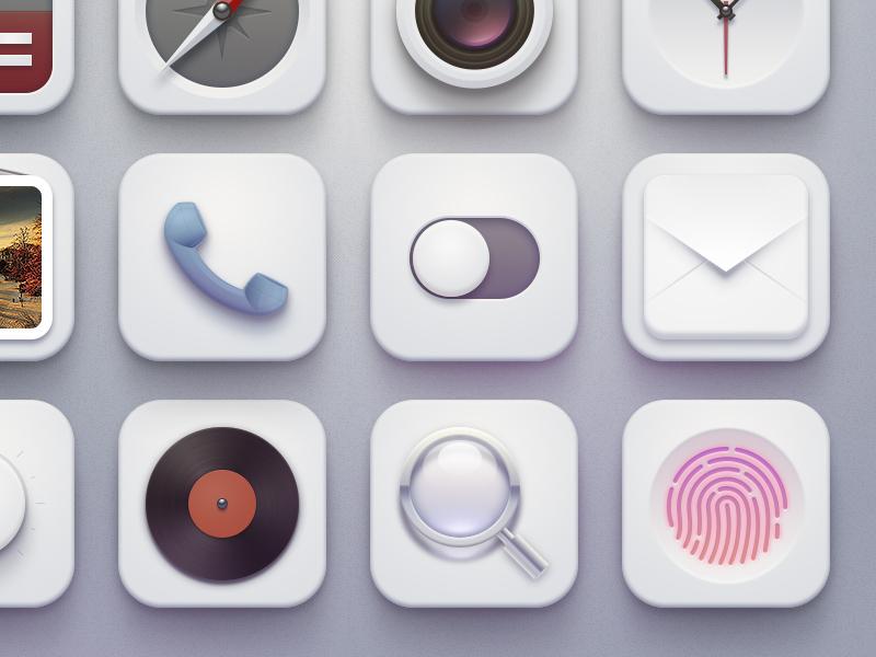 Ishtar icons(+) buatoom soft magnifier clock mail touchid switch search ui photo phone fingerprint