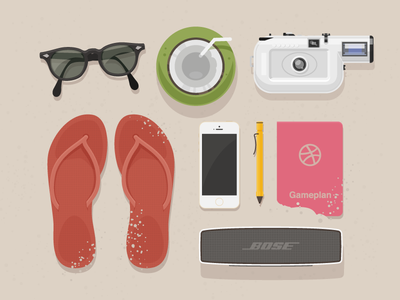 Vacation coconut bose beach lomo vacation slipper gameplan glasses lamy sand speaker