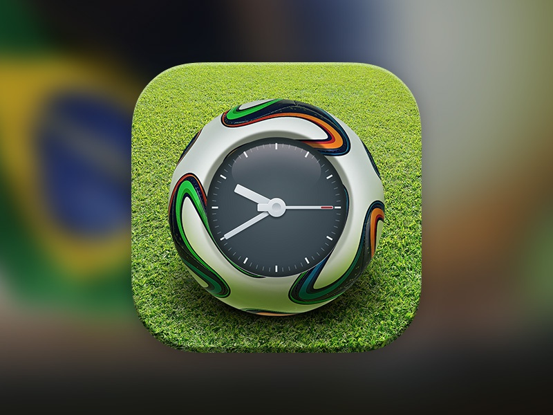 World Football Cup Reminder Icon football worldcup brazil alarm