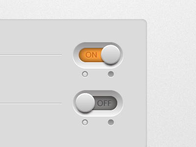 Simple Switch ui button slide orange buatoom power simple ai light app clean interface click btn switch on off