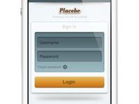 Placebo Login page