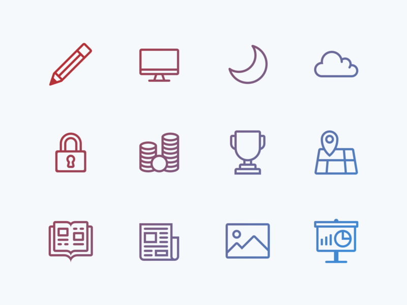 Lovely icons, pt. 1 icon set ui branding design illustration icon