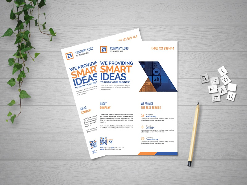 Corporate Business Flyer lettering ux ui character illustrator clean typography design illustration branding