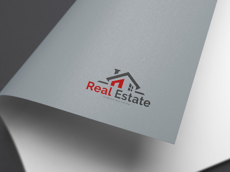 Real Estate Logo website graphic design minimal app vector creative animation business card type web character identity illustrator clean lettering typography illustration logo design branding