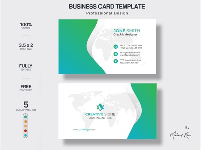 BUSINESS CARD DESIGN logo identity character lettering design clean illustrator illustration typography branding business card mockup name card