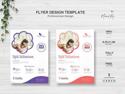 Spa Flyer Design magazine logo landscape green graphic creative flyer creative business flyer business card business blue black lettering design illustrator branding brochure flyer poster spa