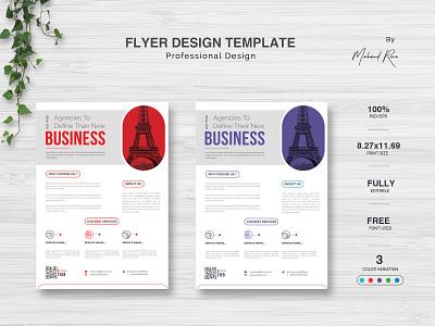 Corporate Flyer Design logo identity character clean lettering illustrator illustration design typography branding corporate flyer corporate identity