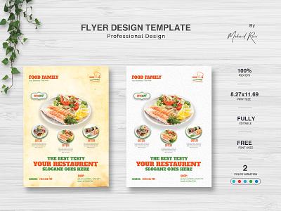 Restaurant Flyer Design branding identity logo clean illustrator illustration design typography restaurant branding flyer poster restaurant app restaurant