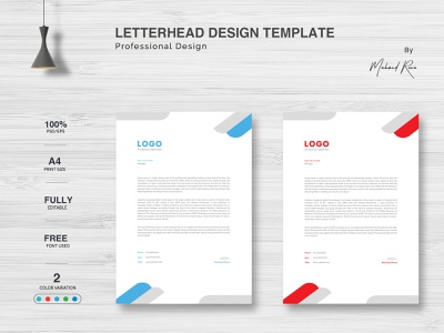 Letterhead Design creative business card logo character lettering illustration illustrator design branding typography landing page