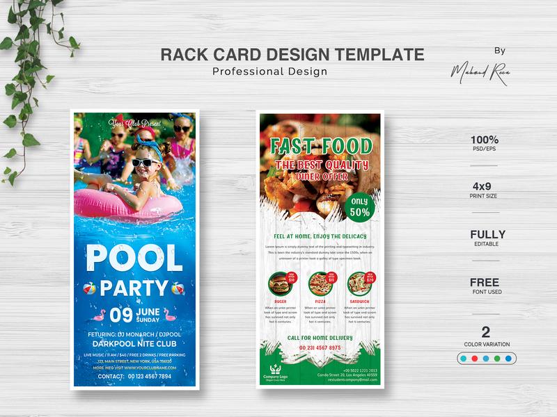 Rack Card Template creative illustrator identity logo typography clean illustration branding digital postcard poster dl flyer