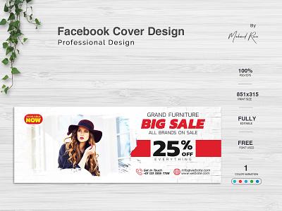 Facebook Cover Design lettering clean illustrator design illustration typography branding facebook banner poster flyer banner ad facebook cover facebook ads