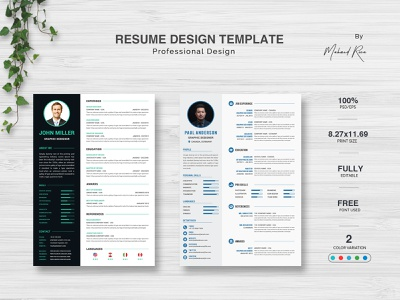 RESUME DESIGN lettering clean typography logo branding design illustration redesign poster art flyers letterhead design cv design resume cv