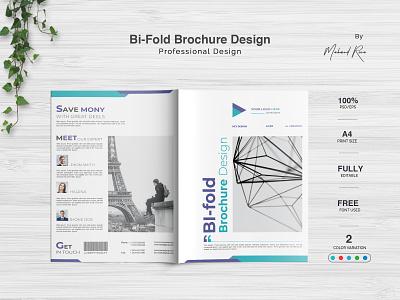 Corporate Bi Fold Brochure Design identity logo character clean illustrator design illustration typography branding brochure design brochure tri-fold