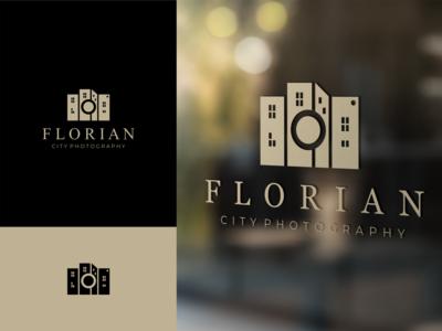 Florian Photography design proffesional logo modern logo minimalist logo logo design logo company logo clean logo branding design branding
