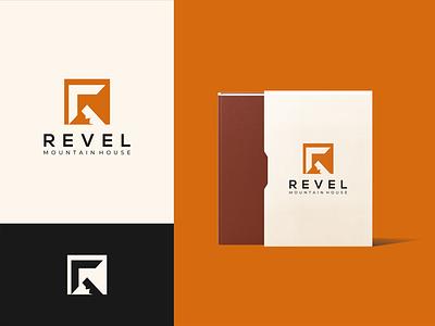 REVEL Mountain House design proffesional logo modern logo minimalist logo logo design logo company logo clean logo branding design branding