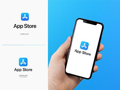 App Store REDESIGN LOGO CONCEPT design proffesional logo modern logo minimalist logo logo design logo company logo clean logo branding design branding