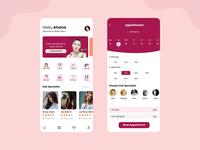 Salon & Beauty Services Mobile App design