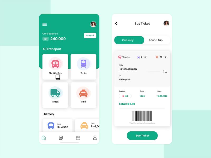 Transportation App Concept
