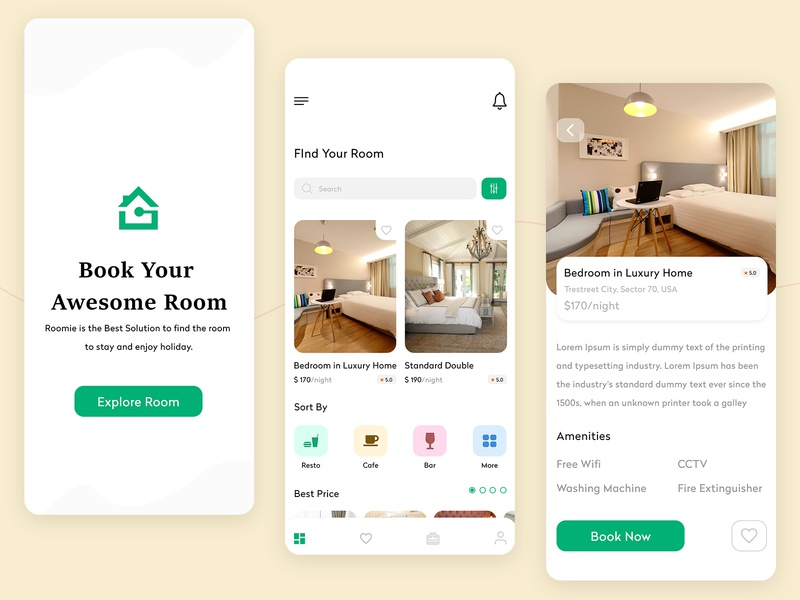Hotel Room Booking Apps homepage restaurant mobile app design app design room booking app hotel booking app hotel branding app development app clone room service room booking hotel hotel booking hotel logo hotel app hotels